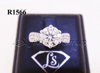 แหวนเพชร H&A 1.53 Ct. พร้อมCer I/VVS