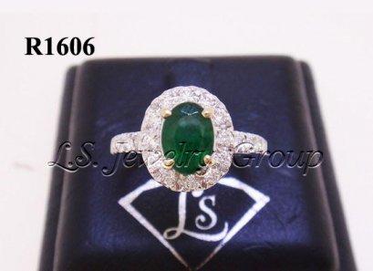 แหวนมรกตโคลัมเบียธรรมชาติเจียระไน 0.75 Ct.