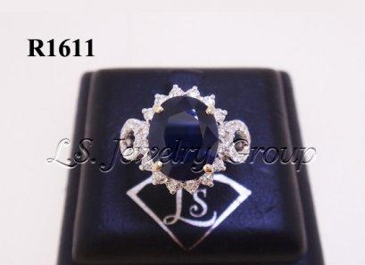 แหวนไพลินซีลอนธรรมชาติเจียระไน 3.63 Ct.
