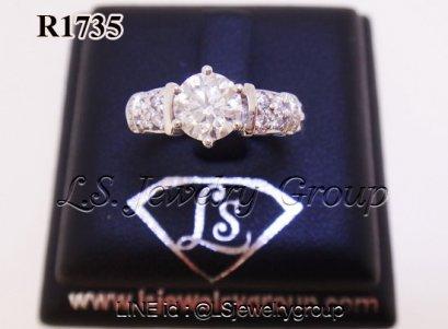 แหวนเพชรชูมีบ่า  0.74  ct. เพชร Heart & Arrow