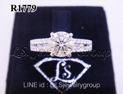 แหวนเพชรชูก้านแถว 1.02  ct. เพชร Heart & Arrow