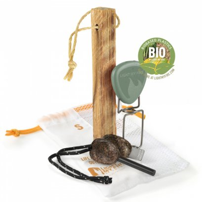 FIRELIGHTING KIT BIO 3PCS SANDYGREEN/COCOSHELL