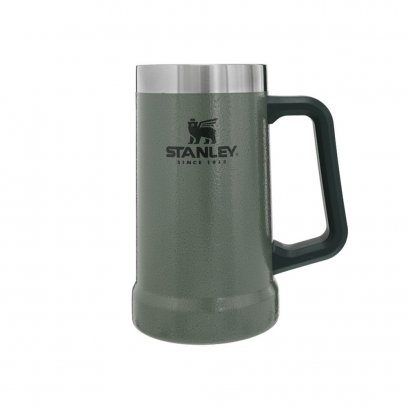 ADVENTURE BIG GRIP BEER STEIN 24OZ HAMMERTONE GREEN