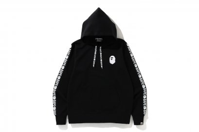 BAPE DOUBLE KNIT PULLOVER HOODIE M