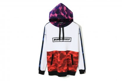 COLOR CAMO OVERSIZED PULLOVER HOODIE L