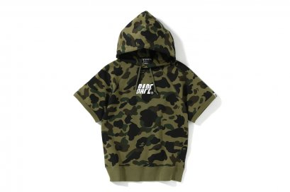 1ST CAMO S/S PULLOVER HOODIE L