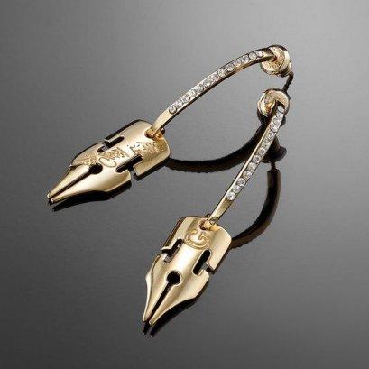 [ราคา 6,000/มัดจำ 5,000][กันยายน2564] JOJO Kishibe Rohan G-Pen Earrings GOLD Ver.1, ตุ้มหู ต่างหู คิชิเบะ โรฮัง สีทอง, โจโจ้ ล่าข้ามศตวรรษ ภาค 4, เพชรแท้ไม่มีวันสลาย, Jojo's Bizarre Adventure Part 4, Diamond is unbreakable