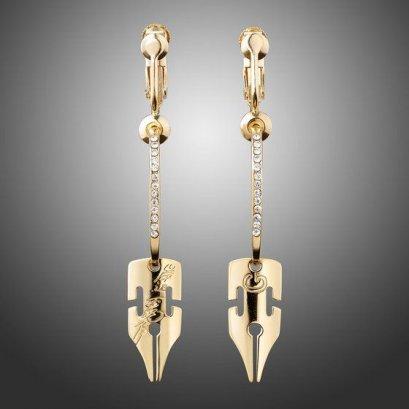 [ราคา 6,000/มัดจำ 5,000][กันยายน2564] JOJO Kishibe Rohan G-Pen Earrings GOLD Ver.2, ตุ้มหู ต่างหู คิชิเบะ โรฮัง สีทอง, โจโจ้ ล่าข้ามศตวรรษ ภาค 4, เพชรแท้ไม่มีวันสลาย, Jojo's Bizarre Adventure Part 4, Diamond is unbreakable