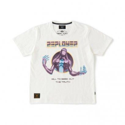 [NEW][SIZE-XS] Glamb, T-Shirt, Moody Blue, White, Jojo's Bizarre Adventure Part 5, Vento Aureo, Golden Wind, เสื้อยืดสีขาว มู้ดดี้ บลู, โจโจ้ ล่าข้ามศตวรรษ ภาค 5 สายลมทองคำ