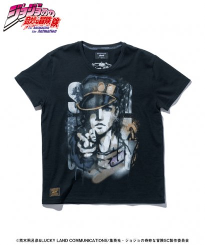 [NEW][SIZE-M] Glamb, T-Shirt, BLACK, Kujo Jotaro Jojo's Bizarre Adventure Part 3, Stardust Crusaders