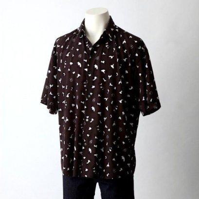 [Price 4,600/Deposit 2,500][Please Read All Detail][SEP2019] JOJO tk.TAKEO KIKUCHI, Short Sleeve Shirt Diavolo, BLACK, เสื้อเชิร์ตแขนสั้น สีดำ,เดียโบโร่, โจโจ้ ล่าข้ามศตวรรษ ภาค 5 สายลมทองคำ, Jojo's Bizarre Adventure Part 5, Vento Aureo, Golden Wind