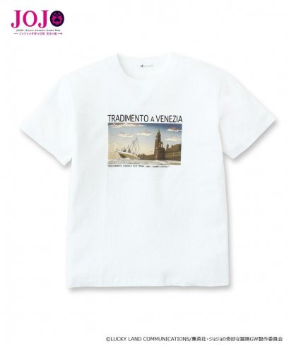 [NEW][SIZE LL] JOJO tk.TAKEO KIKUCHI, T-Shirt Venice Tradimento A Venezia, WHITE, เสื้อยืดทีเชิร์ต สีขาว,เวนิซ, โจโจ้ ล่าข้ามศตวรรษ ภาค 5 สายลมทองคำ, Jojo's Bizarre Adventure Part 5,, Golden Wind