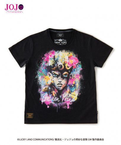 [NEW][SIZE-L] Glamb, T-Shirt, Giorno Giovanna, Black, Jojo's Bizarre Adventure Part 5, Vento Aureo, Golden Wind(copy)
