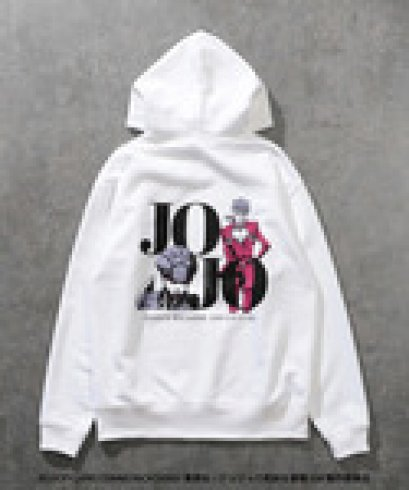 [Please Read All Detail][Price 7,500/Deposit 4,000] JOJO LOVELESS Giorno Giovanna Hoodie WHITE, Jojo's Bizarre Adventure Part 5, Vento Aureo, Golden Wind