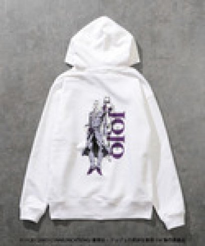 [Please Read All Detail][Price 7,500/Deposit 4,000] JOJO LOVELESS Leone Abbacchio Hoodie WHITE, Jojo's Bizarre Adventure Part 5, Vento Aureo, Golden Wind