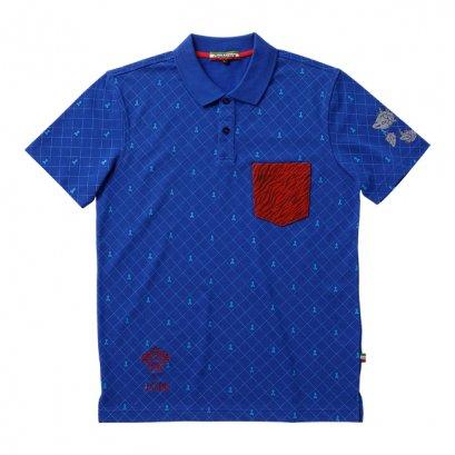 [Please Read All Detail][Price 5,800/Deposit 3,000] JOJO OROBIANCO, Polo Shirt Guido Mista BLUE, เสื้อโปโล สีน้ำเงิน กุยโด้ มิซูต้า โจโจ้ ล่าข้ามศตวรรษ ภาค 5 สายลมทองคำ, Jojo's Bizarre Adventure Part 5, Vento Aureo, Golden Wind