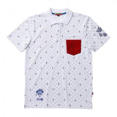 [Please Read All Detail][Price 5,800/Deposit 3,000] JOJO OROBIANCO, Polo Shirt Guido Mista WHITE, เสื้อโปโล สีขาว กุยโด้ มิซูต้า โจโจ้ ล่าข้ามศตวรรษ ภาค 5 สายลมทองคำ, Jojo's Bizarre Adventure Part 5, Vento Aureo, Golden Wind
