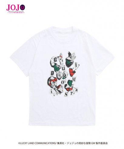 [NEW][SIZE L] JOJO T-Shirt Guido Mista WHITE, Tokyo Department Store, เสื้อทีเชิร์ต สีขาว กุยโด้ มิซูต้า, โจโจ้ ล่าข้ามศตวรรษ ภาค 5, Jojo's Bizarre Adventure Part 5, Vento Aureo, Golden Wind