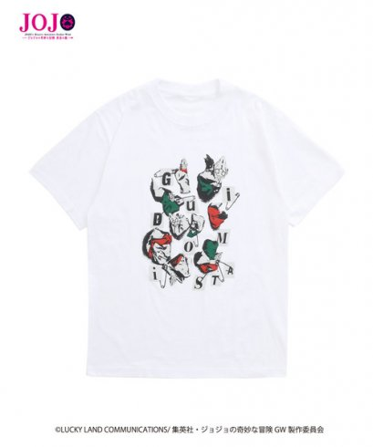 [NEW][SIZE L] JOJO T-Shirt Guido Mista WHITE, Tokyo Department Store