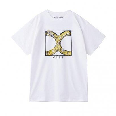 [Please Read All Detail][Price 2,600/Deposit 1,800] JOJO X-GIRL, T-Shirt Golden Logo WHITE, เสื้อทีเชิร์ต สีขาว โลโก้ทองคำ โจโจ้ ล่าข้ามศตวรรษ ภาค 5 สายลมทองคำ, Jojo's Bizarre Adventure Part 5, Vento Aureo, Golden Wind