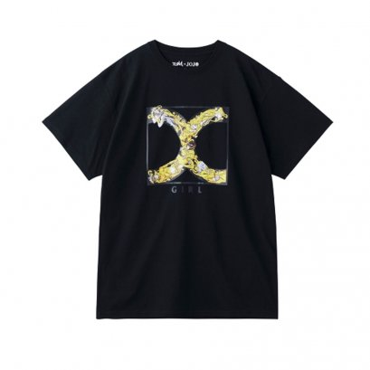 [Please Read All Detail][Price 2,600/Deposit 1,800] JOJO X-GIRL, T-Shirt Golden Logo BLACK
