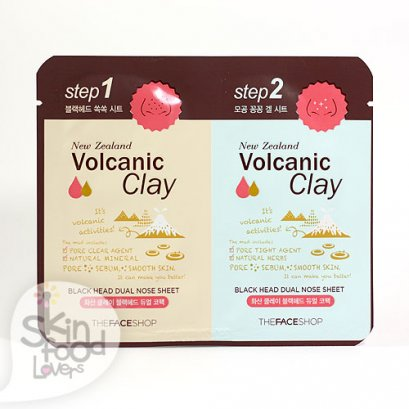 THE FACE SHOP New Zealand Volcanic Clay Black Head Dual Nose Sheet