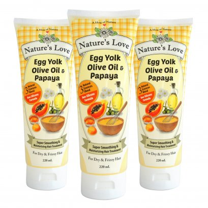 Nature's Love Super Smoothing & Moisturizing Hair Treatment 220 ML.x3 (แพคสามหลอด)