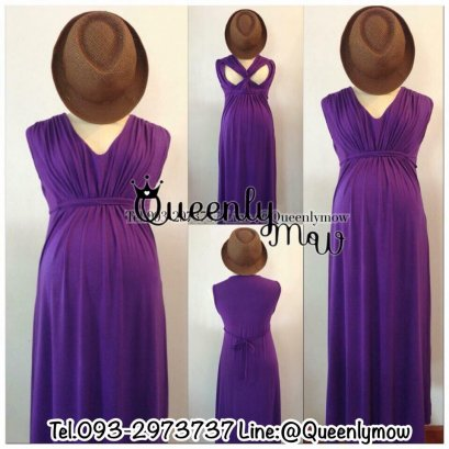 Marie Maternity & Nursing Maxi Dress