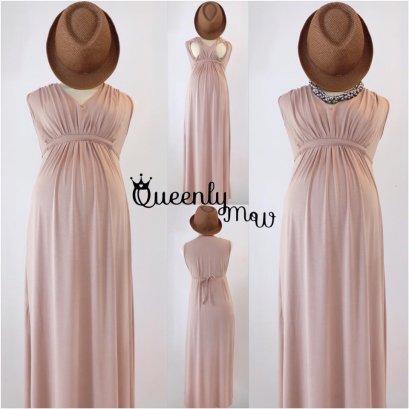 Marie Maternity & Nursing Maxi Dress