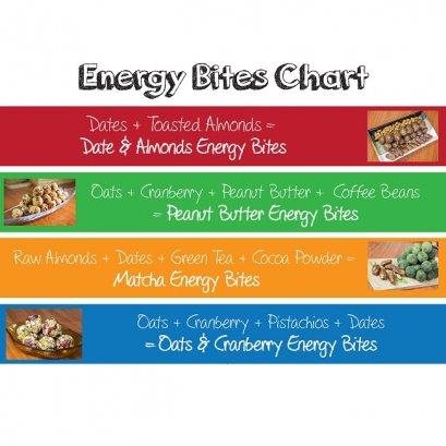 Oat&Cranberry Energy Bites   อีเนอจี่ไบท์ โอ๊ต & แครนเบอรี่