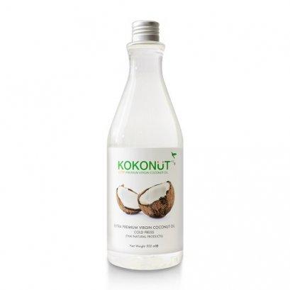 อาหารสุขภาพ ธรรมชาติ Kokonut น้ำมันมะพร้าวธรรมชาติ สกัดเย็น 100% 500ml