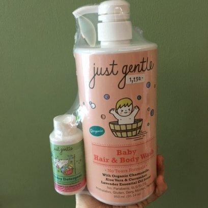 ของใช้แม่และเด็ก Just Gentle เจลสระผมและอาบน้ำเด็กอ่อน 950ml