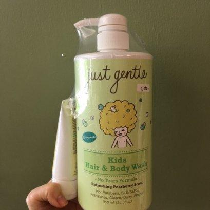 ของใช้แม่และเด็ก Just Gentle เจลสระผมและอาบน้ำสำหรับเด็ก 950ml