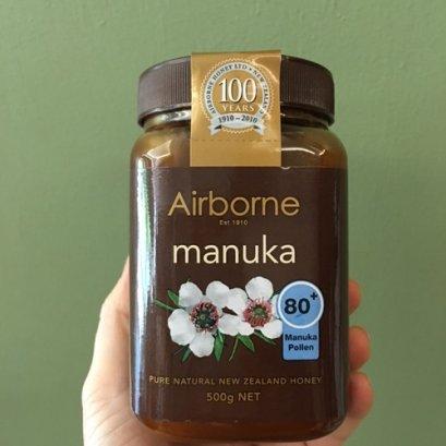 น้ำผึ้งมานูก้า แอกทีฟ (มานูก้าโพเล็น80+) แอร์บอร์น 500g
