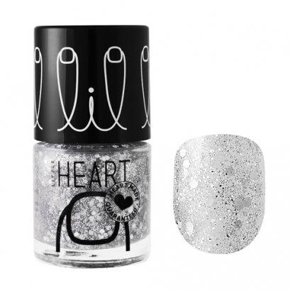 Little Heart Nail Colors ยาทาเล็บ #27 Twinkle Twinkle  สีเงิน กลิทเทอร์ 8 ML