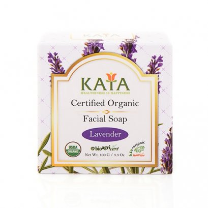 KAYA สบู่ล้างหน้าออร์แกนิค USDA (ลาเวนเดอร์) 100g