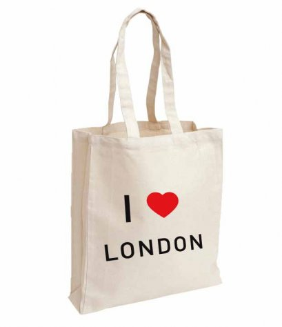 กระเป๋า Fabric I love London bag