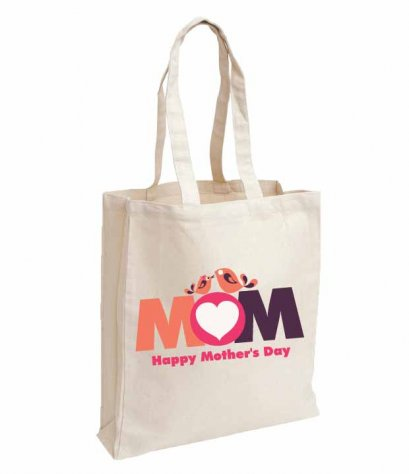 กระเป๋า Fabric Mom happy Mothers day bag