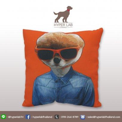 หมอนสกรีน รูปหมาปอมปอม