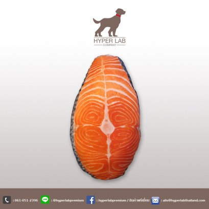 หมอนรูปอาหาร ชิ้นปลาแซลมอน