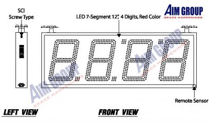 LED Digital Clock 12""