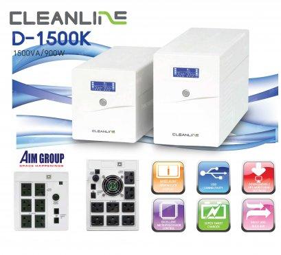 UPS CLEANLINE D-1500K 1500VA / 900W Line Interactive