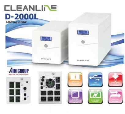 UPS CLEANLINE D-2000L 2000VA / 1200W Line Interactive