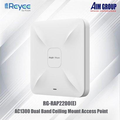 Ruijie Series AC1300 Dual Band Ceiling Mount Access Point Model : RG-RAP2200(E)