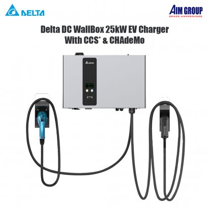 Delta DC WallBox 25kW EV Charger With CCS* & CHAdeMO