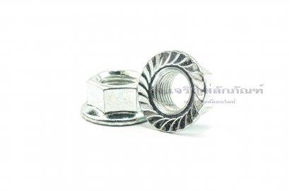 หัวน็อตติดจาน-หัวน็อตติดแหวน (Flange Hex Nut Steel) M12x1.25