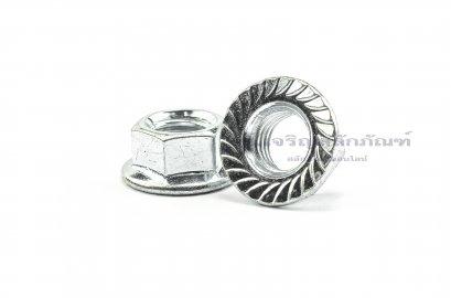 หัวน็อตติดจาน-หัวน็อตติดแหวน (Flange Hex Nut Steel) M12x1.75