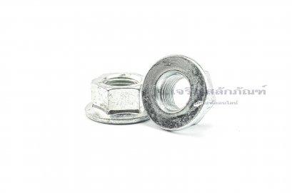 หัวน็อตติดจาน-หัวน็อตติดแหวน (Flange Hex Nut Steel) M14x1.5