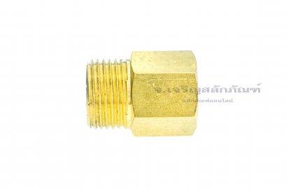 """ข้อต่อตรงทองเหลือง เกลียวมิล x เกลียวแป๊ป (เกลียวนอก x เกลียวใน) M18x1.5 x 1/4"""""""