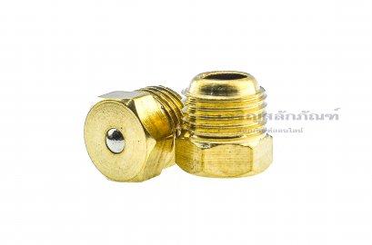 หัวอัดจารบีแบบหัวเรียบทองเหลือง ขนาด M10x1.0
